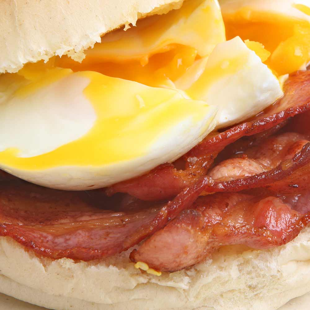 Egg and bacon roll